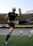 Nick Evans. All Blacks kickers session, Eden Park, Auckland. July 18 2007.