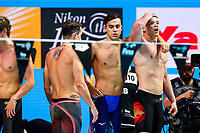 Picture by Rogan Thomson/SWpix.com - 30/07/2017 - Swimming - Fina World Championships 2017 -  Duna Arena, Budapest, Hungary - James Guy, Chris Walker-Hebborn and Adam Peaty look on as Great Britain win the Silver Medal in the Final of the Men's 4x100m Medlay Relay.