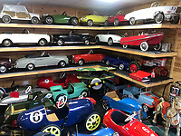 BNPS.co.uk (01202 558833)<br /> Pic: EastBristolAuctions/BNPS<br /> <br /> £65,000 of pedal power...David Worrow with his lifetime collection. <br />   <br /> Toy story...<br /> <br /> A remarkable lifetime collection of 30 vintage toy cars has emerged for sale for more than £65,000.<br /> <br /> The fleet of rare pedal cars were acquired over almost half a century by retired car garage owner David Worrow, 72.<br /> <br /> During their time with Mr Worrow they formed what was believed to be the biggest private collection of its kind in the world.