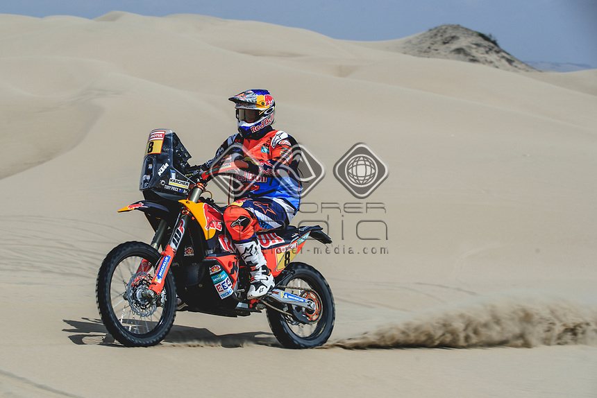 PISCO,PERU,06.JAN.18 - MOTORSPORTS, RALLY - Rally Dakar 2018, stage 1, Lima - Pisco. Image shows Toby Price (AUS/ KTM). Photo: Sport the library / Red Bull Content Pool/ Flavien Duhamel - ATTENTION - FREE OF CHARGE FOR EDITORIAL USE