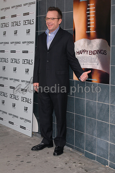 12 July 2005 - New York, New York - Tom Arnold arrives at the premier of his new film, &quot;Happy Endings&quot; at the Chelsea Clearview Theater in Manhattan.<br />
