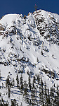 Tram Hill at Squaw Valley after huge snowfall spring 2011 out of bounds.