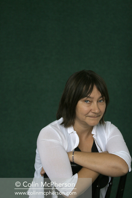Celebrated Scottish writer and Whitbread Prize-winner Ali Smith, pictured at the Edinburgh International Book Festival where she talked about her latest work entitled The Accidental. The Book Festival was the World's largest literary event and featured writers from around the world. The 2006 event featured around 550 writers and ran from 13-28 August.