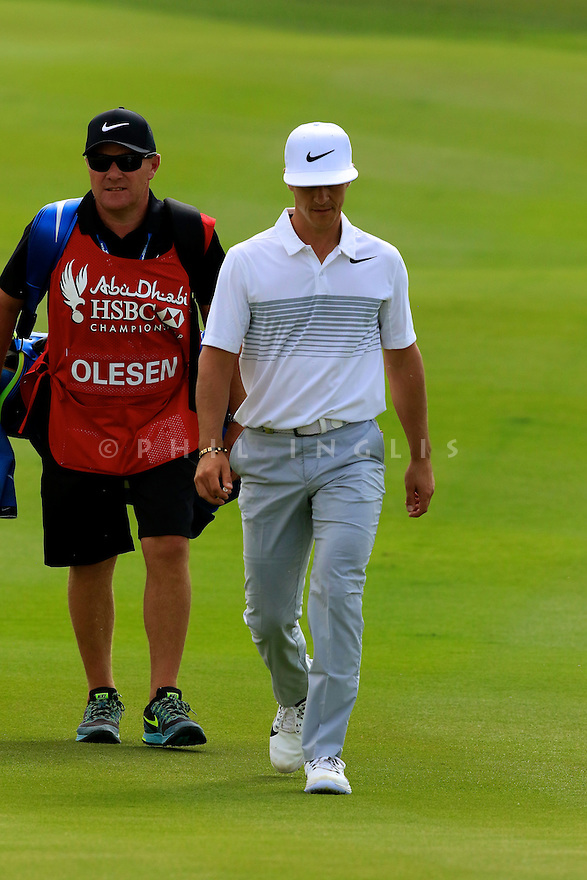 Thorbjørn Olesen (DEN) during the final round of the Abu Dhabi HSBC Golf Championship played at Abu Dhabi Golf Club 19-22 January 2017.(Picture Credit / Phil Inglis)