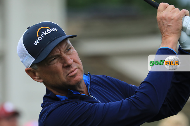 Davis Love III (USA) in action at Spyglass Hill Golf Course during the second round of the AT&amp;T Pro-Am, Pebble Beach Golf Links, Monterey, USA. 08/02/2019<br /> Picture: Golffile | Phil Inglis<br /> <br /> <br /> All photo usage must carry mandatory copyright credit (&copy; Golffile | Phil Inglis)
