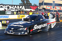 Jul. 26, 2013; Sonoma, CA, USA: NHRA funny car driver Cruz Pedregon during qualifying for the Sonoma Nationals at Sonoma Raceway. Mandatory Credit: Mark J. Rebilas-
