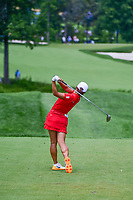 Jin Young Ko (KOR) watches her tee shot on 2 during Sunday's final round of the 72nd U.S. Women's Open Championship, at Trump National Golf Club, Bedminster, New Jersey. 7/16/2017.<br /> Picture: Golffile | Ken Murray<br /> <br /> <br /> All photo usage must carry mandatory copyright credit (&copy; Golffile | Ken Murray)