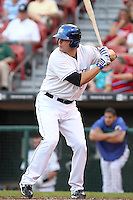 Buffalo Bisons Lucas Duda during a game vs. the Syracuse Chiefs at Coca-Cola Field in Buffalo, New York;  August 30, 2010.  Syracuse defeated Buffalo 4-1.  Photo By Mike Janes/Four Seam Images