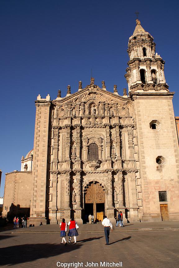 The Templo del Carmen church in the city of San Luis de Potosi, Mexico