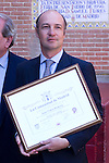 23.05.2012. Juan Pedro Domencq discovers a plaque in Las Ventas for being the best Livestock Fair San Isidro 2012. In the picture: Juan Pedro Domecq (Alterphotos/Marta Gonzalez)