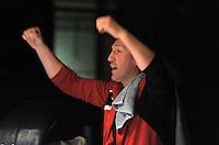 Boxen in Delitzsch, Ostdeutsche Meisterschaft und Rosenpokal im Kultur- und Sportzentrum.   im Bild: Enrico Nuernberger jubelt. .Foto: Alexander Bley