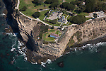 Aerial view of Pt. Fermin Lighthouse in San Pedro, Los Angeles, CA
