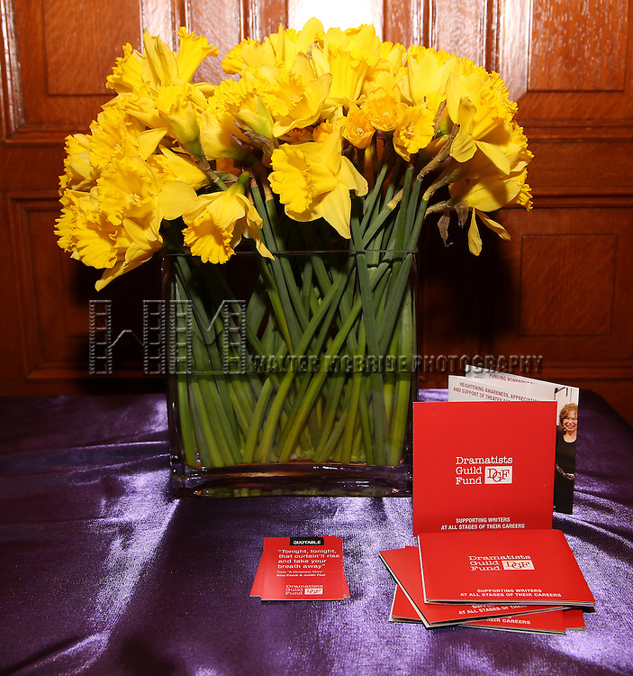 The Dramatists Guild Fund intimate salon with Benj Pasek and Justin Paul at the home of Kara Unterberg on March 7, 2016 in New York City.