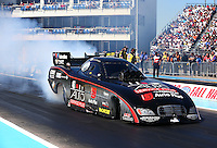 Sept. 22, 2013; Ennis, TX, USA: NHRA funny car driver Blake Alexander during the Fall Nationals at the Texas Motorplex. Mandatory Credit: Mark J. Rebilas-