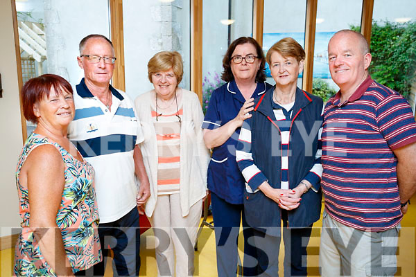 Mary Carmody, Brian Carmody, Patricia Spillane, Rose Daly (nurse manager), Kay O'Donnell and Mick Naughton, pictured at Baile Mhuire Day Care Centre, Tralee, Health and Well Being Day on Friday morning last.