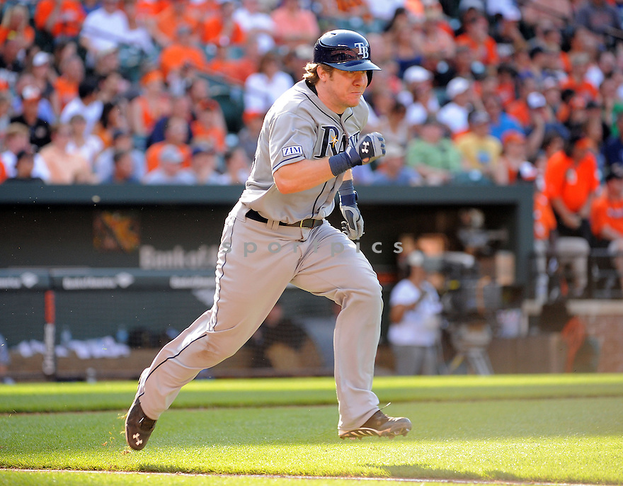 Tampa Bay Rays Ryan Hanigan (24) during a game against the Baltimore Orioles on June 28, 2014 at Oriole Park in Baltimore, MD. The Rays beat the Orioles 5-4.