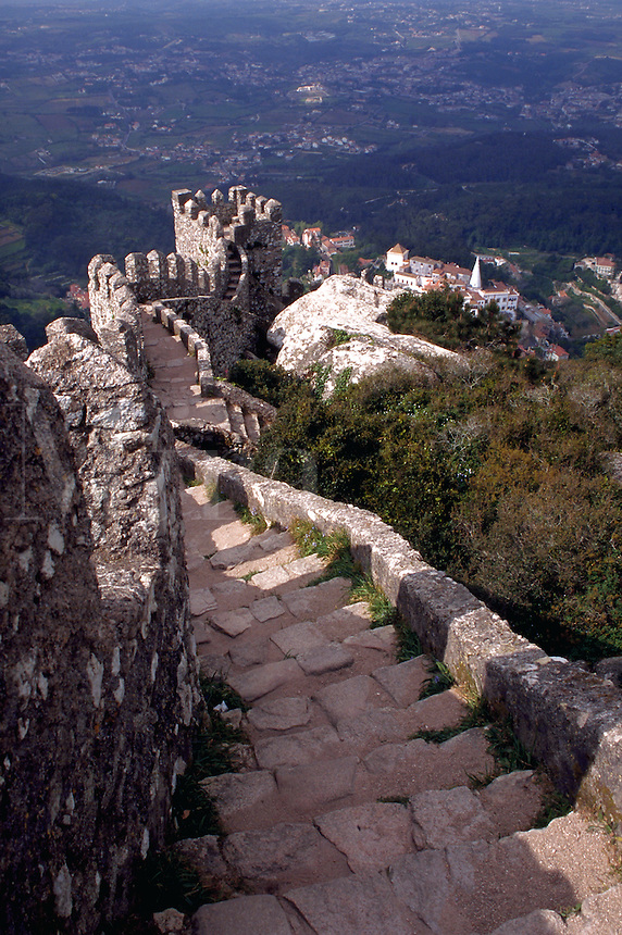 Ramparts of Castelo dos Mouros, Sintra, Portugal