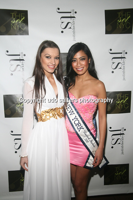 "Model Nadiya Tereschuk and Ms. New York 2012 Jeannette Josue Attend The Set NYC and JTS Present Chelsea Fashion: A New Year Eve Bash Benefiting Nomi Network Hosted by Model and ""Adoro"" Swimwear Line Designer Maytee Martinez,  Model Nadiya Tereschuk, Ms. New York 2012 Jeannette Josue, Actor Erik Mckay , Filmmaker and Commercial Photographer Israel David Groveman Held at Holy Apostles Ballroom in Chelsea, NY 12/31/12"