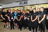 Event staff on day two of the 2018 HSBC World Sevens Series Hamilton at FMG Stadium in Hamilton, New Zealand on Saturday, 3 February 2018. Photo: Dave Lintott / lintottphoto.co.nz