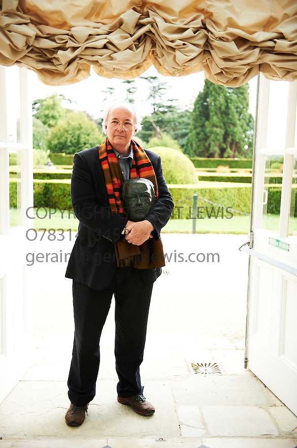 Philip Pullman,,author and Writer of His Dark Materials  at Blenheim Palace at The Woodstock Literary Festival 2010 .CREDIT Geraint Lewis