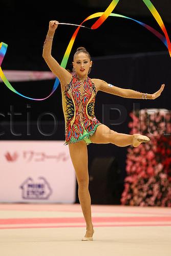 Daria Kondakova (RUS), .OCTOBER 9, 2010 - Rhythmic Gymnastics : .AEON CUP 2010 .Worldwide R.G. Club Championships .at Tokyo Metropolitan Gymnasium, Tokyo, Japan. .