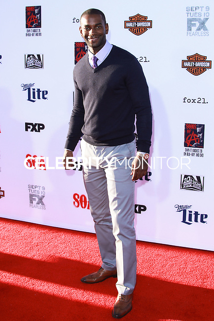 HOLLYWOOD, LOS ANGELES, CA, USA - SEPTEMBER 06: Mo McRae arrives at the Los Angeles Premiere Of FX's 'Sons Of Anarchy' Season 7 held at the TCL Chinese Theatre on September 6, 2014 in Hollywood, Los Angeles, California, United States. (Photo by David Acosta/Celebrity Monitor)