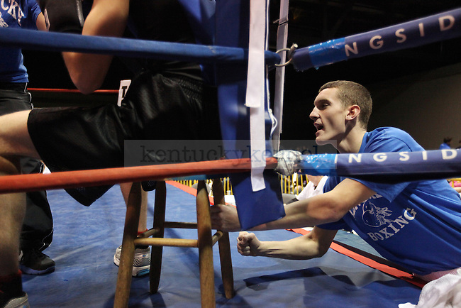 Nate Angel works a corner for another boxer at The Main Event on Friday Nov. 6, 2010. Photo by Britney McIntosh | Staff
