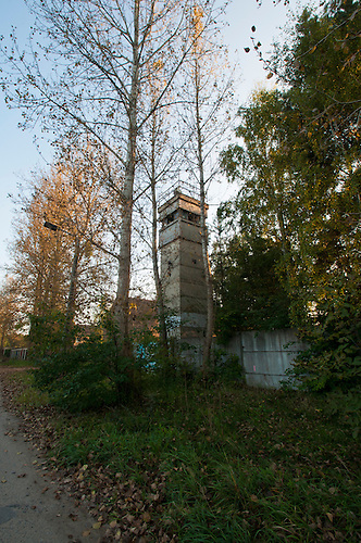 This is an old Stasi watch tower. We did go into the compond but were trying to avoid getting caught by another security gaurd, German this time. I think this place was a Stasi training camp.