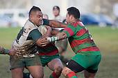 H. Aulika takes on M. Poa. Counties Manukau Premier 1 McNamara Cup round 2 rugby game between Manurewa & Waiuku played at Mountfort Park, Manurewa on the 30th of June 2007. Manurewa led 19 - 3 at halftime and went on to win 31 - 3.