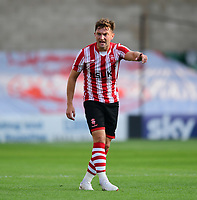 Lincoln City's Lee Frecklington<br /> <br /> Photographer Chris Vaughan/CameraSport<br /> <br /> Football Pre-Season Friendly - Lincoln City v Sheffield Wednesday - Friday 13th July 2018 - Sincil Bank - Lincoln<br /> <br /> World Copyright &copy; 2018 CameraSport. All rights reserved. 43 Linden Ave. Countesthorpe. Leicester. England. LE8 5PG - Tel: +44 (0) 116 277 4147 - admin@camerasport.com - www.camerasport.com