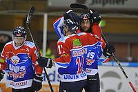 IJSHOCKEY: HEERENVEEN: 14-12-2013, IJsstadion Thialf, UNIS Flyers - Dordrecht Lions, uitslag 10-0, Brent Janssen (#10 | Flyers), Aldo van Aalderen (#11 | Flyers), Nick de Jong (#23 | Flyers), ©foto Martin de Jong