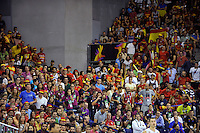 Spain's supports during 2014 FIBA Basketball World Cup Group Phase-Group A, match Serbia vs Spain. Palacio  Deportes of Granada. September 4,2014. (ALTERPHOTOS/Raul Perez)