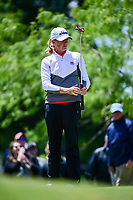 Stacy Lewis (USA) lines up her putt on 1 during round 4 of  the Volunteers of America Texas Shootout Presented by JTBC, at the Las Colinas Country Club in Irving, Texas, USA. 4/30/2017.<br /> Picture: Golffile | Ken Murray<br /> <br /> <br /> All photo usage must carry mandatory copyright credit (&copy; Golffile | Ken Murray)