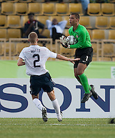 Earl Edwards makes the save. US Under-17 Men's National Team defeated United Arab Emirates 1-0 at Gateway International  Stadium in Ijebu-Ode, Nigeria on November 1, 2009.