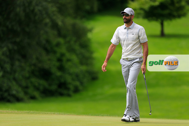 Alvaro QUIROS (ESP) on the 9th during round 2 of the Irish Open, Fota Island, Cork, Ireland.<br /> Picture:  Fran Caffrey www.golffile.ie