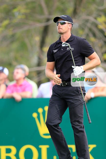 Henrik STENSON (SWE) during round 4 of the DP World, Tour Championship, Dubai, UAE.<br /> Picture: Fran Caffrey www.golffile.ie