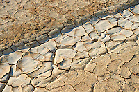 cracked mud in the Bardena Blanca  Bardenas Reales de Navarra Natural Park. A UNESCO World Heritage Site
