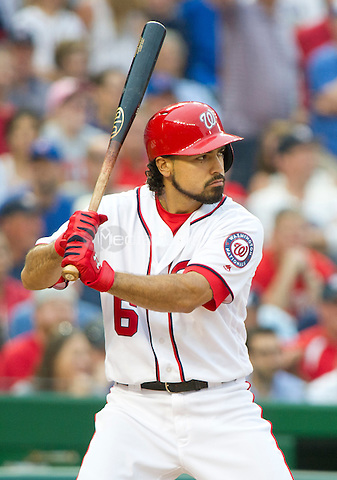 Washington Nationals third baseman Anthony Rendon (6) bats in the ninth inning against the Washington Nationals at Nationals Park in Washington, D.C. on Wednesday, June 15, 2016.  The Nationals won the game 5 - 4 in 12 innings.<br /> Credit: Ron Sachs / CNP/MediaPunch