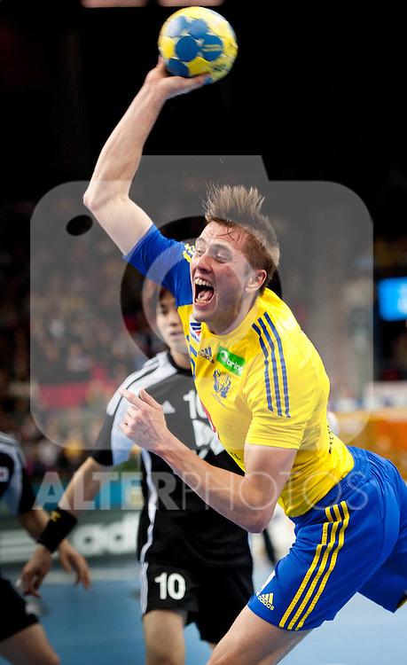 110117 Handboll, VM, Sverige - Sydkorea: Jonas Larholm, Sverige... Foto © nph / Bildbyrån   56400