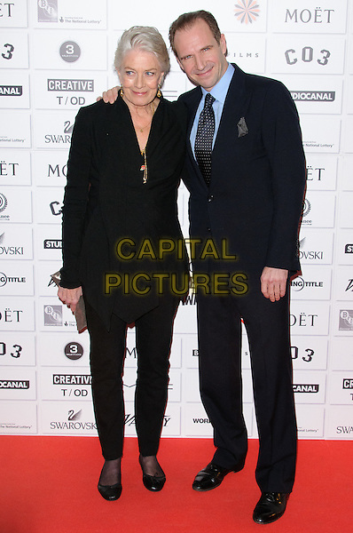 Vanessa Redgrave and Ralph Fiennes.14th Moet British Independent Film Awards 2011, Old Billingsgate, Lower Thames Street, London, England, 4th December 2011.full length black suit jacket top blue shirt trousers .CAP/CJ.©Chris Joseph/Capital Pictures.