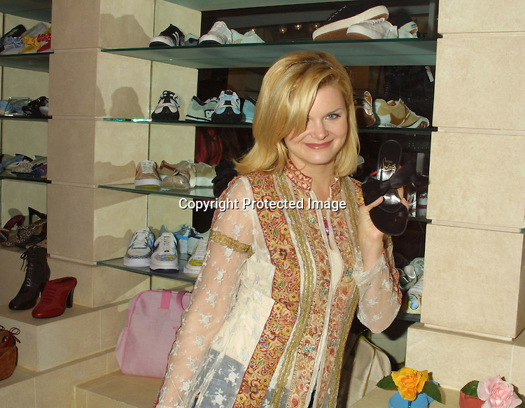 ©2003 KATHY HUTCHINS/ HUTCHINS PHOTO.COLE-HAAN PARTY KICKING OFF CASUAL SHOE LINE.AT FRED SEGAL STORE ON MELROSE.LOS ANGELES, CA  MARCH 12, 2003.HEATHER TOM