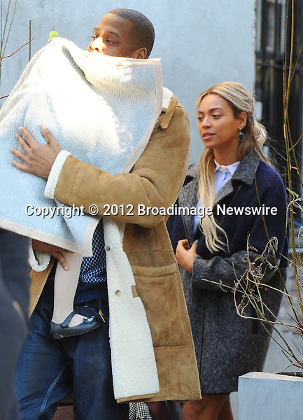 Pictured: Beyonce Knowles, Jay Z, Blue Ivy<br /> Mandatory Credit &copy; Jayme Oak/Broadimage<br /> Jay Z and wife Beyonce Knowles take their precious cargo baby Blue Ivy to lunch in a restaurant in Brooklyn in New York City<br /> <br /> 1/20/14, New York, New York, United States of America<br /> <br /> Broadimage Newswire<br /> Los Angeles 1+  (310) 301-1027<br /> New York      1+  (646) 827-9134<br /> sales@broadimage.com<br /> http://www.broadimage.com<br /> <br /> <br /> Pictured: Beyonce Knowles, Jay Z, Blue Ivy<br /> Mandatory Credit &copy; Jayme Oak/Broadimage<br /> Jay Z and wife Beyonce Knowles take their precious cargo baby Blue Ivy to lunch in a restaurant in Brooklyn in New York City<br /> <br /> 1/20/14, New York, New York, United States of America<br /> Reference: 011914_JKNY_BDG_016<br /> <br /> Broadimage Newswire<br /> Los Angeles 1+  (310) 301-1027<br /> New York      1+  (646) 827-9134<br /> sales@broadimage.com<br /> http://www.broadimage.com