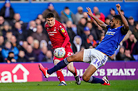 1st February 2020; St Andrews, Birmingham, Midlands, England; English Championship Football, Birmingham City versus Nottingham Forest; Joe Lolley of Nottingham Forest crosses the ball