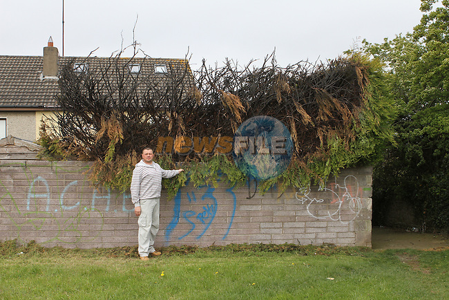 David Stewart whose trees behind his house were set on fire by youths..(Photo Jenny Matthews/www.golffile.ie)