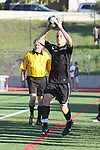 Palos Verdes, CA 02/03/12 - Danny Bishop (Peninsula #4) in action during the Peninsula vs Palos Verdes boys varsity soccer game.