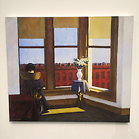 "Edward Hopper, Room in Brooklyn, 1932, Digital Canvas at Original Artwork Size, Dimensions: 34"" x 29"" x 1.5"" Stretched"
