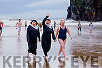 At the Connie Harnett Memorial Swim in Ballybunion on New Year's Day were Joan O'Connell, Mary Murphy and Ann O'Mara
