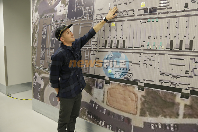 Stephen De Mille, Field Marketing Representative, shows the layout of the plant as he guides us around Oakley Headquarters at Foothills Ranch, California. 23rd January 2017<br /> Picture: Eoin Clarke | Newsfile<br /> <br /> <br /> All photos usage must carry mandatory copyright credit (&copy; Newsfile | Eoin Clarke)