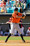 5 March 2006: Val Majewski, outfielder for the Baltimore Orioles, at bat during a Spring Training game against the Washington Nationals. The Nationals defeated the Orioles 10-6 at Space Coast Stadium, in Viera Florida...Mandatory Photo Credit: Ed Wolfstein..