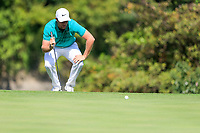 Lucas Bjerregaard (DEN) on the 16th green during the 3rd round at the WGC HSBC Champions 2018, Sheshan Golf CLub, Shanghai, China. 27/10/2018.<br /> Picture Fran Caffrey / Golffile.ie<br /> <br /> All photo usage must carry mandatory copyright credit (&copy; Golffile | Fran Caffrey)